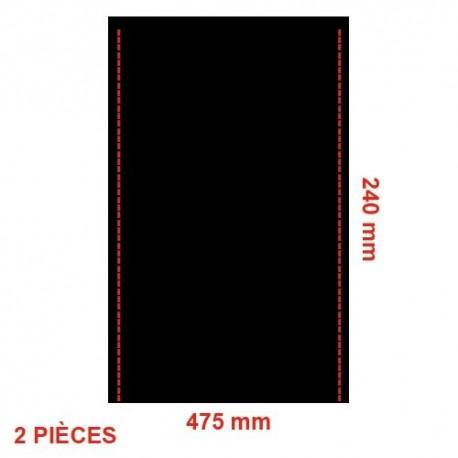 Fond de siège toile PVC x2 dossier + assise pour siège indépendant 2cv 2cv 6 2cv fourgonnette dyane dyane 6 acadiane