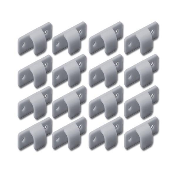 LOT DE 16 CROCHETS PLASTIQUES GRIS mehari mehari 4x4