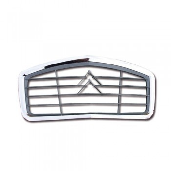 CALANDRE 2CV BORDURE CHROME + CHEVRONS