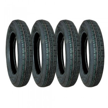 LOT DE 4 PNEUS 125x15 PROFIL MICHELIN