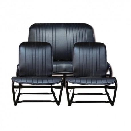 kit garnitures 2cv special symetrique noir perforé(3 pieces)
