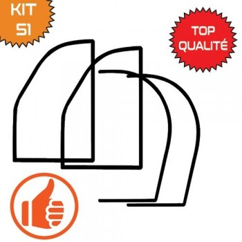 KIT JOINTS DE PORTE 2CV COMPLET QUALITE SUPERIEURE