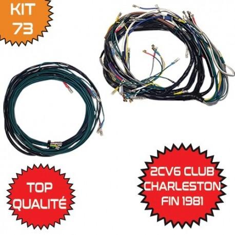 KIT FAISCEAU AVANT   ARRIERE 2CV6 CLUB - CHARLESTON GRAND COMPTEUR