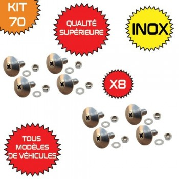 LOT DE 8 VIS INOX ORIGINE