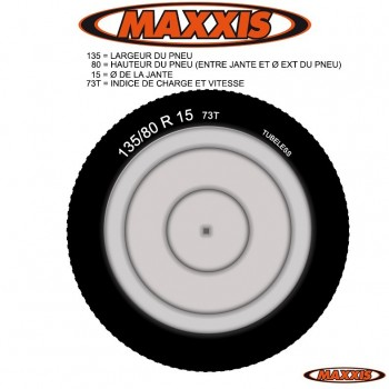 PNEU  135 80 R 15 MAXXIS