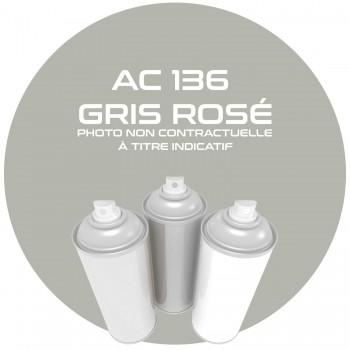 AEROSOL GRIS ROSE.16740. AC136 ANNEE 63.64.65.66.67.68.69. AEROSOL 400ML.
