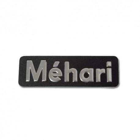 MONOGRAMME INOX EN RELIEF MEHARI mehari