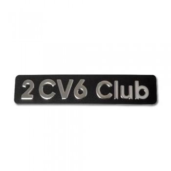 MONOGRAMME INOX EN RELIEF 2CV6 CLUB 2cv 6